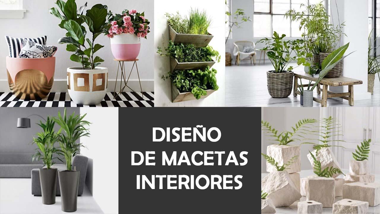 Diseño de macetas para interiores