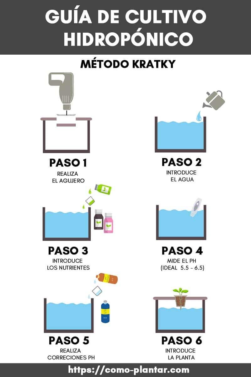 Guía de Cultivo Hidropónico con el Método Kratky